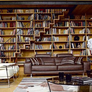 home-library-stairs